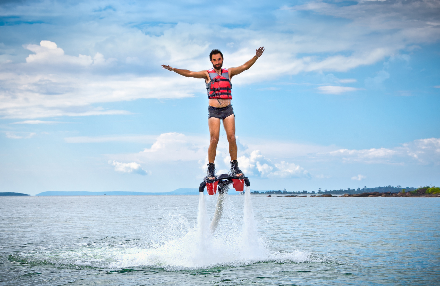 The new spectacular sport called  flyboard